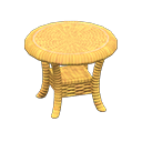 Image of Rattan end table
