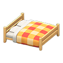 Wooden double bed Image Tag