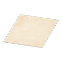 Image of White simple medium mat