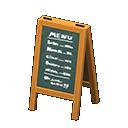 Image of Menu chalkboard